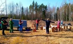 Rīko meža stādīšanas talku
